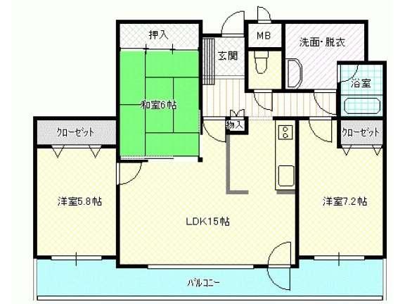 マンション 青森県 青森市 中央1丁目20-11 シャトーム中央町 3LDK