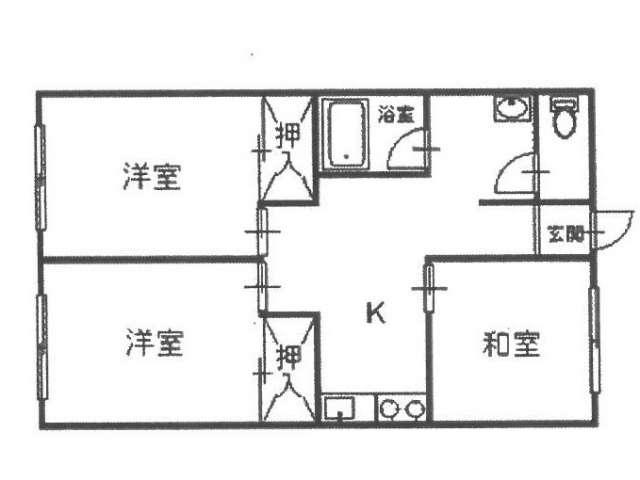 アパート 青森県 青森市 花園2丁目1-1 花園2丁目三方道路 3DK