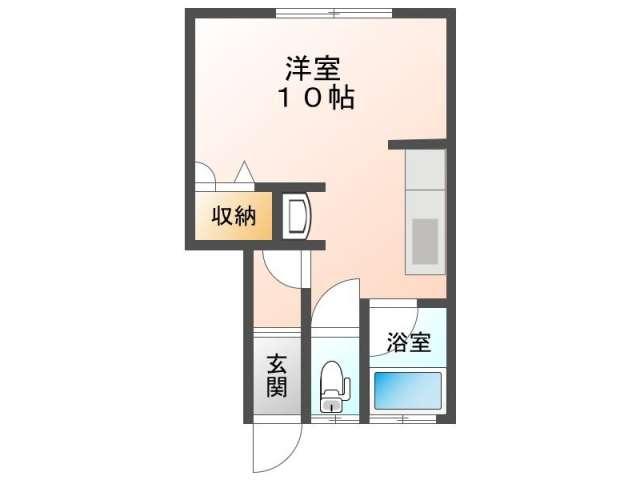アパート 青森市横内亀井244 メゾンフォンテーヌ 1R