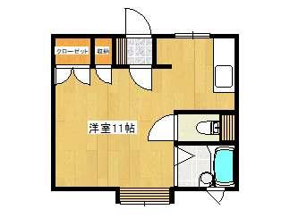 アパート 青森県 青森市 問屋町一丁目 ニューダルニー 1K