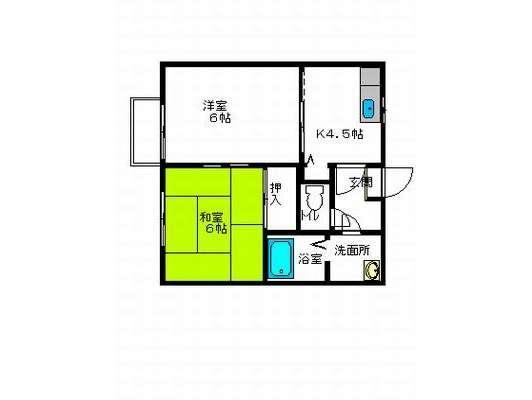 アパート 青森県 八戸市 下長一丁目3-23 タウンコート下長B 2K