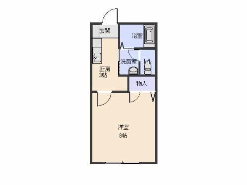 アパート 青森県 八戸市 湊高台四丁目5-10 ディアス・高台 1K