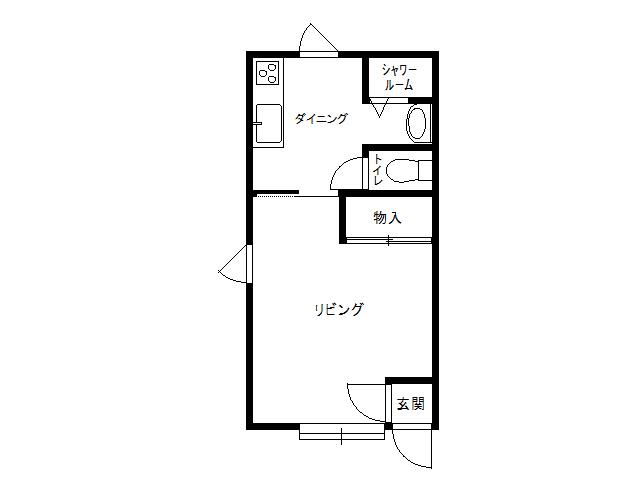 アパート 青森県 八戸市 沢里字沢里山16-176 ルーブル14  1DK