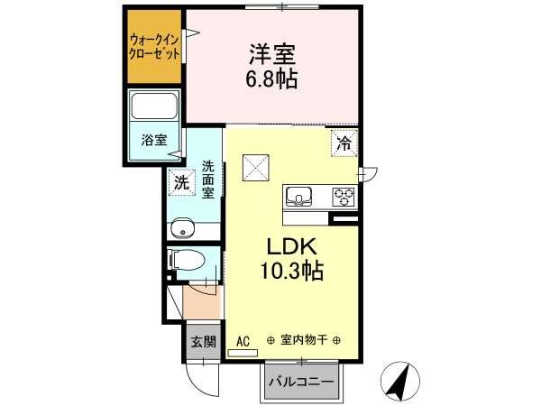アパート 青森県 八戸市 江陽5-3-15 (仮)江陽5丁目3-15 1LDK