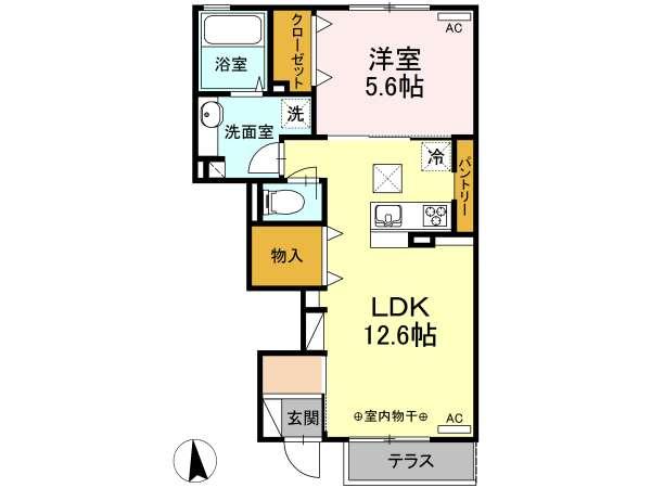 アパート 青森県 八戸市 湊高台3-14-20 ハイネス湊高台 1LDK