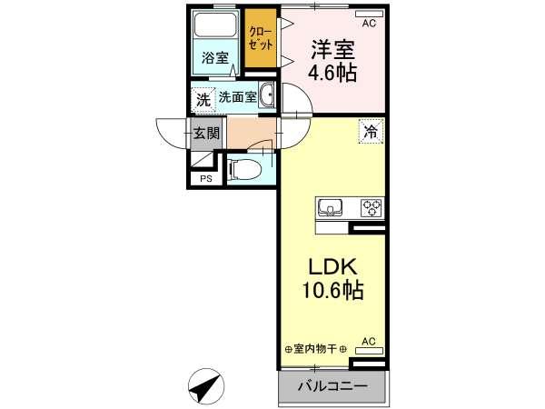 アパート 青森県 八戸市 石堂4丁目8-11 グレイスコートYKY 1LDK