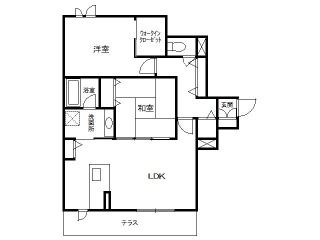 アパート 青森県 八戸市 青葉2丁目 ヴィグラスあおば 2LDK