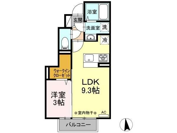 アパート 青森県 八戸市 新井田西2-17-9 ウィット新井田西 1LDK