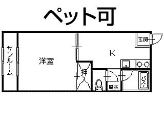 アパート 青森県 八戸市 諏訪二丁目 メルパルク 1DK