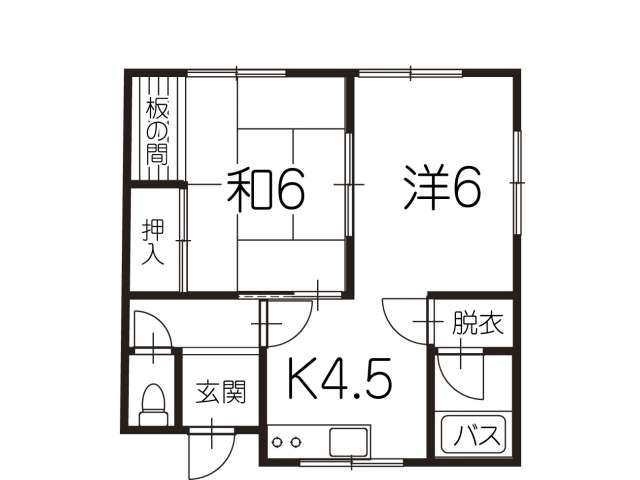 アパート 青森県 青森市 浜田字玉川 アパート浜田玉川 2K