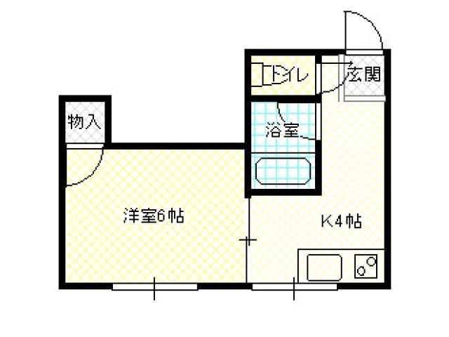 アパート 青森県 青森市 北金沢二丁目 シーシャインII北金沢 1K