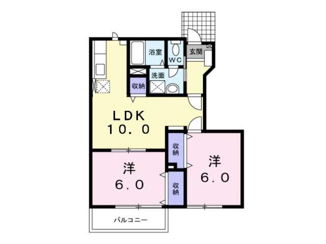 アパート 青森県 青森市 筒井字桜川 サンセール筒井 2LDK
