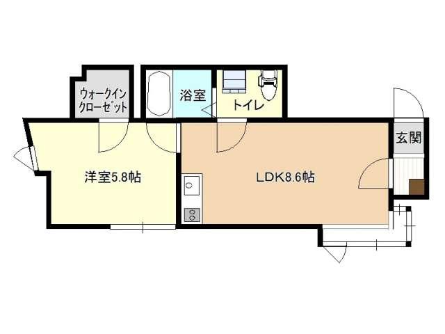 アパート 青森県 青森市 勝田2丁目 ロイヤルヴィラージュ 1LDK