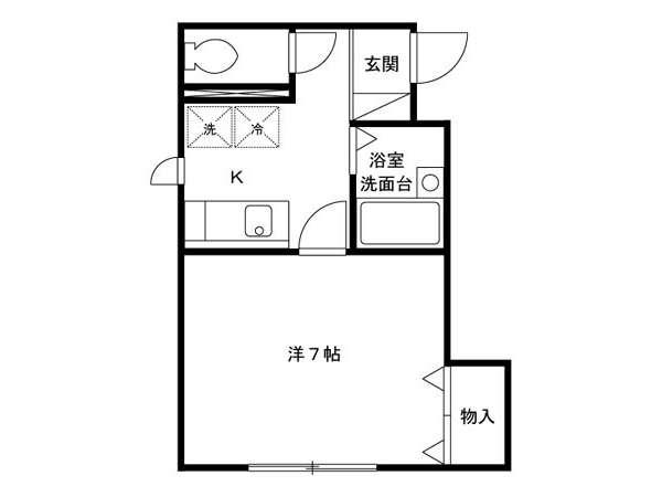 アパート 青森県 青森市 浜田字玉川 メイユールフジ 1K