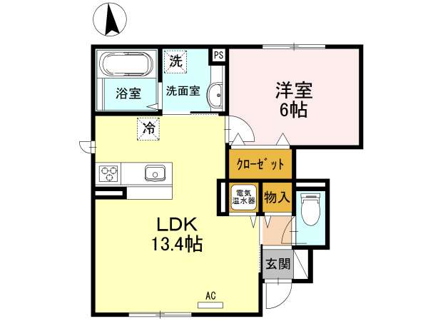 アパート 青森県 青森市 新城平岡 フォレストコートⅡ 1LDK