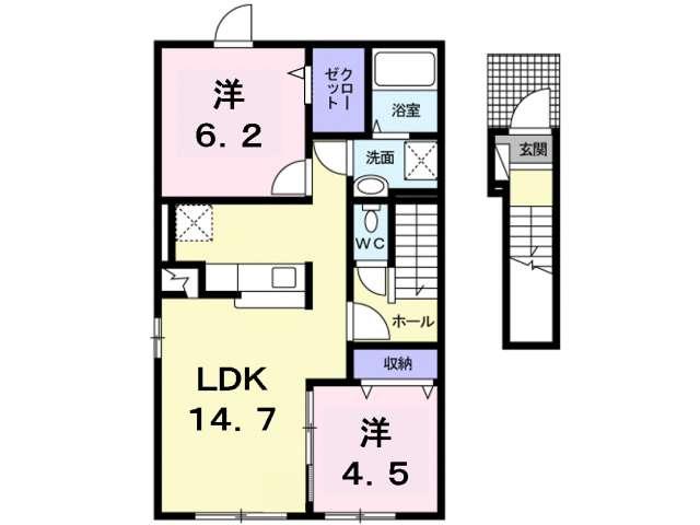 アパート 青森県 青森市 石江 セレイナ 2LDK