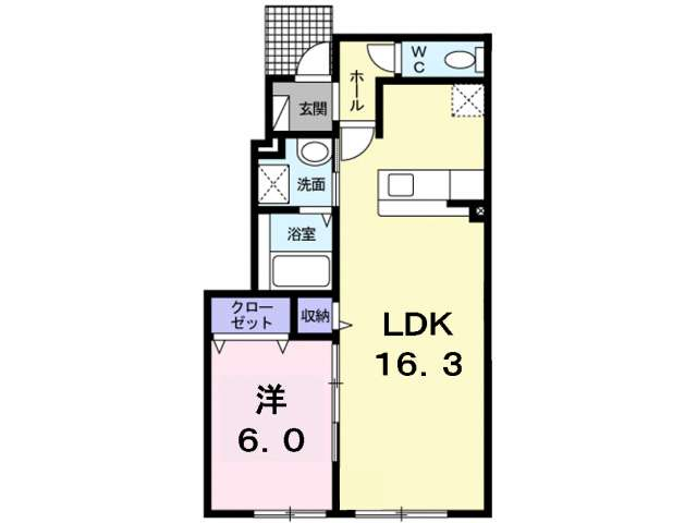 アパート 青森県 青森市 浜館3丁目 コンフォートⅢ 1LDK