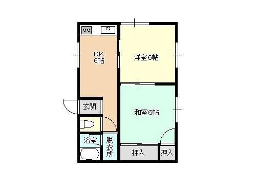 アパート 青森県 青森市 桂木2丁目 コーポビクトリー 2室