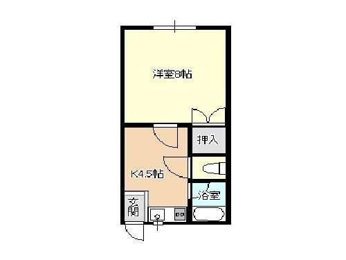 アパート 青森県 青森市 野尻野田34-2 アイーダNO1 1室