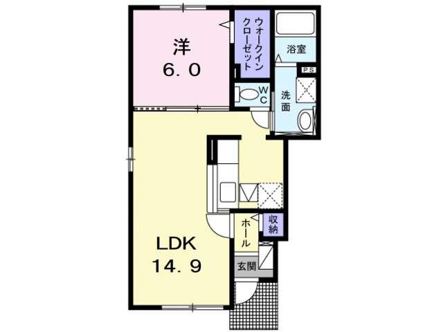 アパート 青森県 青森市 石江字江渡 コンフォートⅡ 1LDK