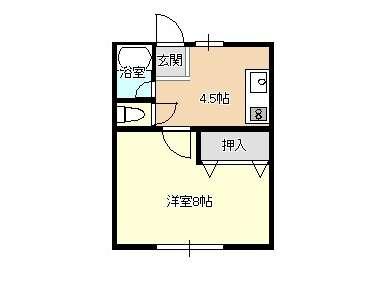 アパート 青森県 青森市 横内亀井 ラ フォーレ・サン 1K