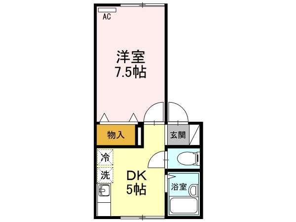 アパート 青森県 青森市 長島2丁目 メイユールカーム 1DK