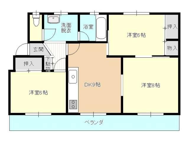 マンション 青森県 青森市 桜川9丁目 シャガール桜川 3LDK