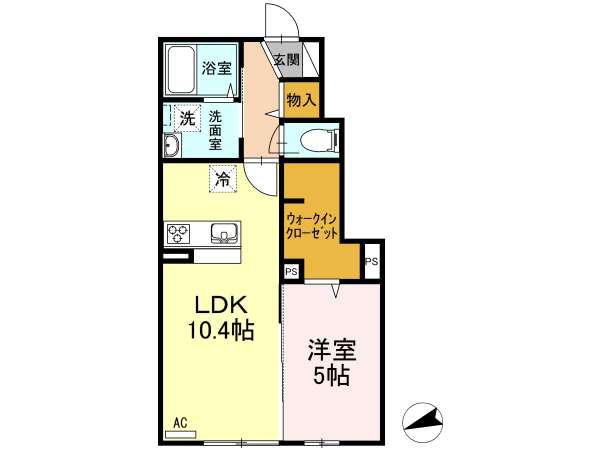 アパート 青森県 青森市 石江江渡 shoushou惣 1LDK
