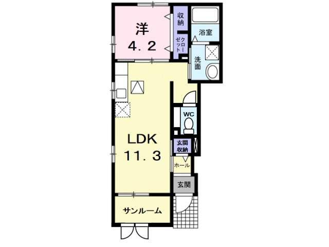 アパート 青森県 青森市 久須志2丁目 エルヴィータ 1LDK