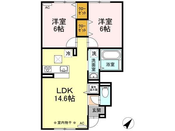 アパート 青森県 青森市 石江岡部 ジラソーレ 2LDK