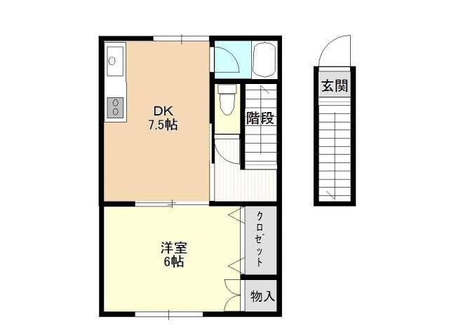 アパート 青森県 青森市 浜館1丁目 リーフタウンわかば 1室