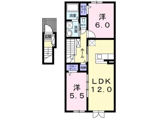 アパート 青森県 青森市 金沢4丁目 モンヴィータ 2LDK