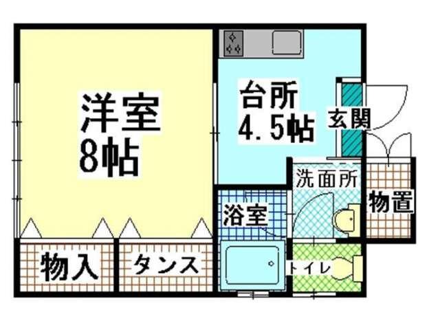 アパート 青森県 青森市 新城山田9 メゾンおさない 1K 画像2