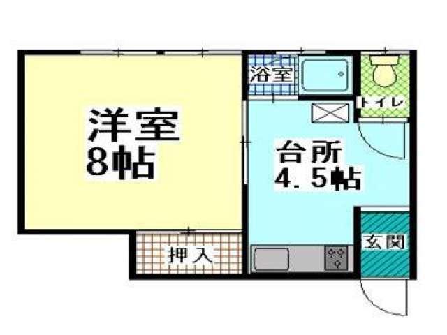 アパート 青森県 青森市 新城山田8-1 コーポグリーン 1K 画像2