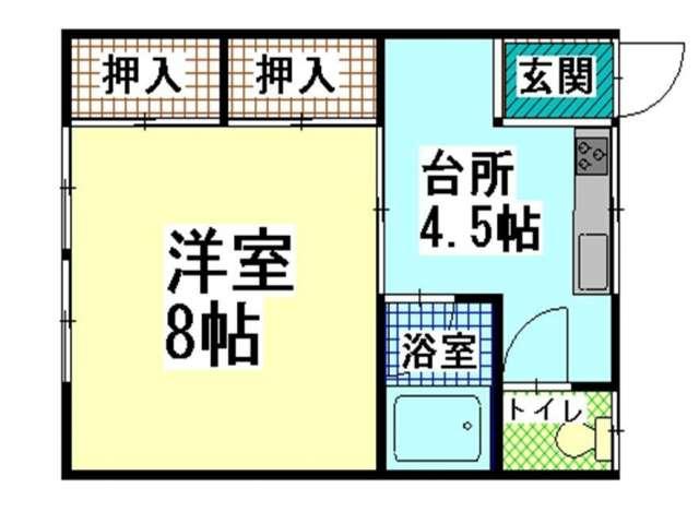 アパート 青森県 青森市 三内字沢部313-17 メゾンマリエ 1K 画像2