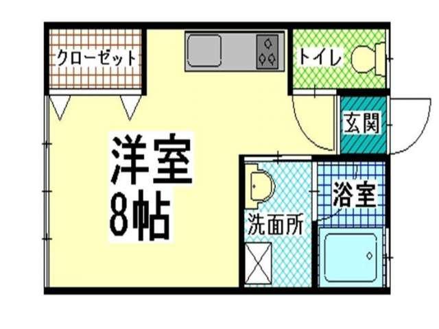 アパート 青森県 青森市 三内字沢部338-10 サンライフ秀峰 1R 画像2
