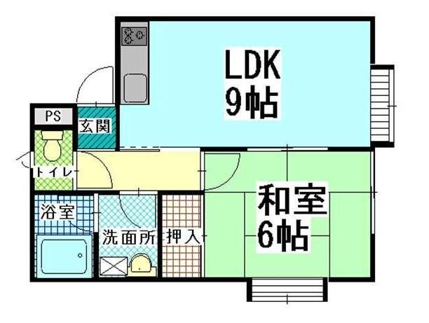 アパート 青森県 青森市 新城字平岡258-456 ハイツソレイユ� 1LDK 画像2