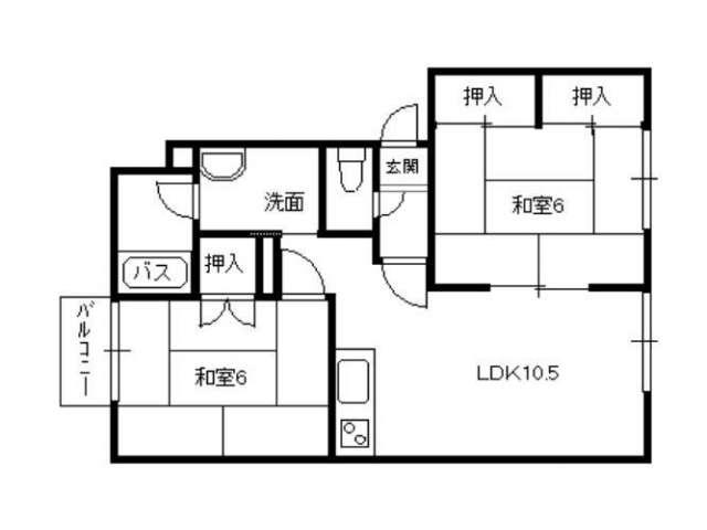 アパート 青森県 弘前市 末広二丁目  2LDK