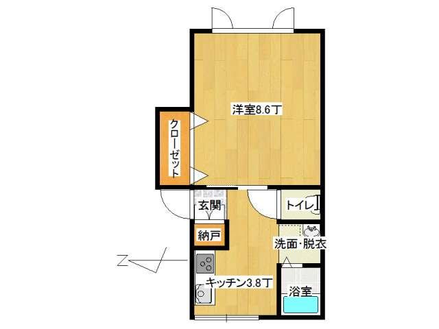 アパート 弘前市城東4丁目「ボワ ヴェール」2-D号室 メイン画像