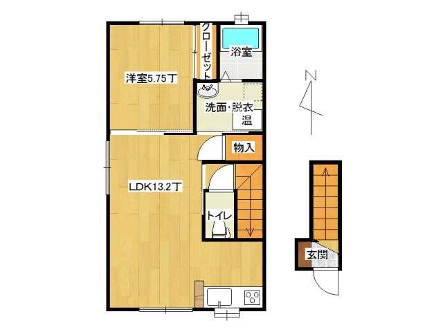 アパート 弘前市高田4丁目「メゾンサンセットⅡ」201号室 メイン画像