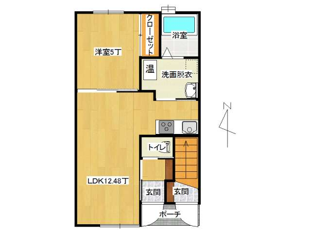 アパート 弘前市高田4丁目「メゾンサンセットⅡ」103号室 メイン画像