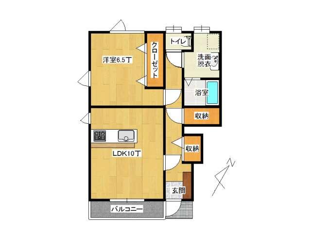 アパート 弘前市城東3丁目「カーネリアン」101号室 メイン画像