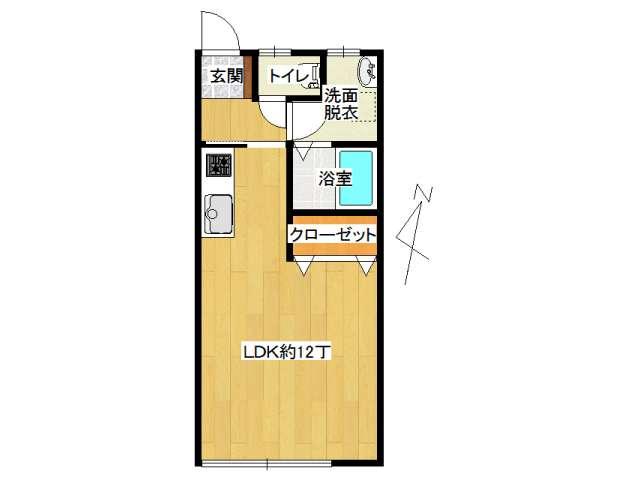 アパート 弘前市高田2丁目「プレッソカーサ」202号室 メイン画像
