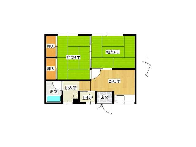 アパート 弘前市高田1丁目「コーポ中川」101号室 メイン画像