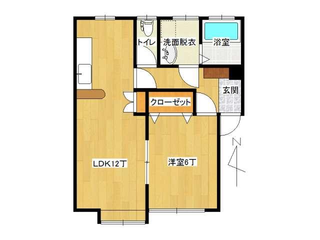アパート 弘前市城東北3丁目「グランデSAKURA」203号室 メイン画像