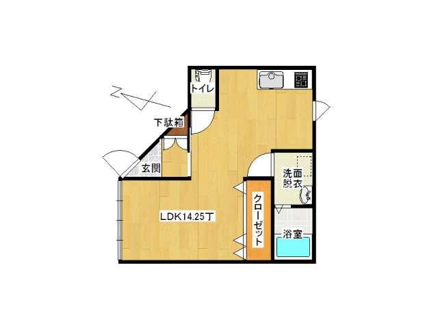 アパート 弘前市早稲田3丁目「ピュアハウスC」203号室 メイン画像