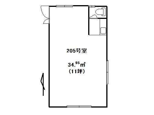 事務所 弘前市城東中央2丁目「サンケイビル」205号室 メイン画像