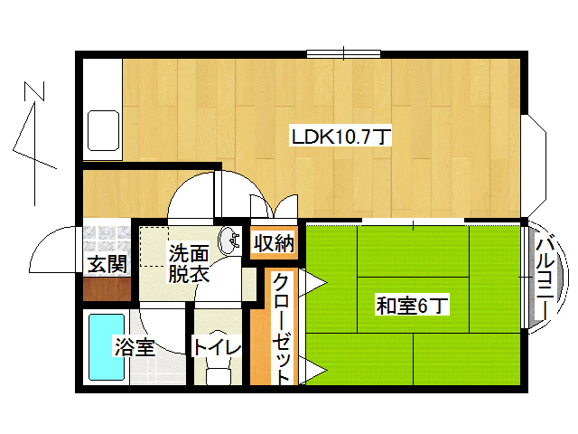 アパート 弘前市田園1丁目「メゾンコージⅡ」101号室 メイン画像