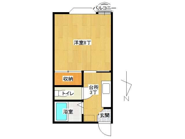 アパート 弘前市田園1丁目「メゾンコージⅡ」205号室 メイン画像