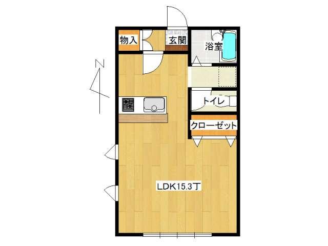 アパート 弘前市堅田4丁目「おしゃれはうす2」A301号室 メイン画像